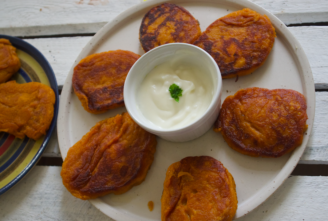 The Flower Garden of the World  and Sweet Potato Fritter Recipe